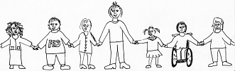 Gemeinsam Hand in Hand von vorn©Friedrich-Ebert-Schule