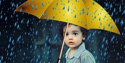Kind Regenschirm©Pixabay