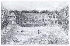 Schloßplatz. Die frühere Bürgerschule, 1824 von E. B. Quaet-Faslem gebaut, Ansicht um 1830