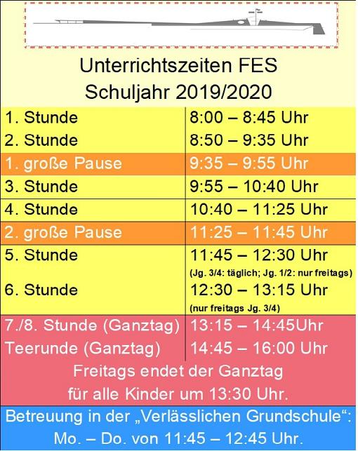 Unterrichtszeiten FES©Friedrich-Ebert-Schule